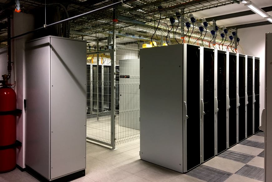 HCE - Data Center Room - Row of Cabinets